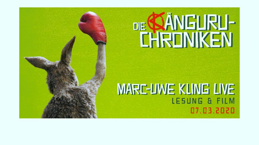 Am 7. März um 17 Uhr kommt Marc-Uwe Kling in den Cinedom!