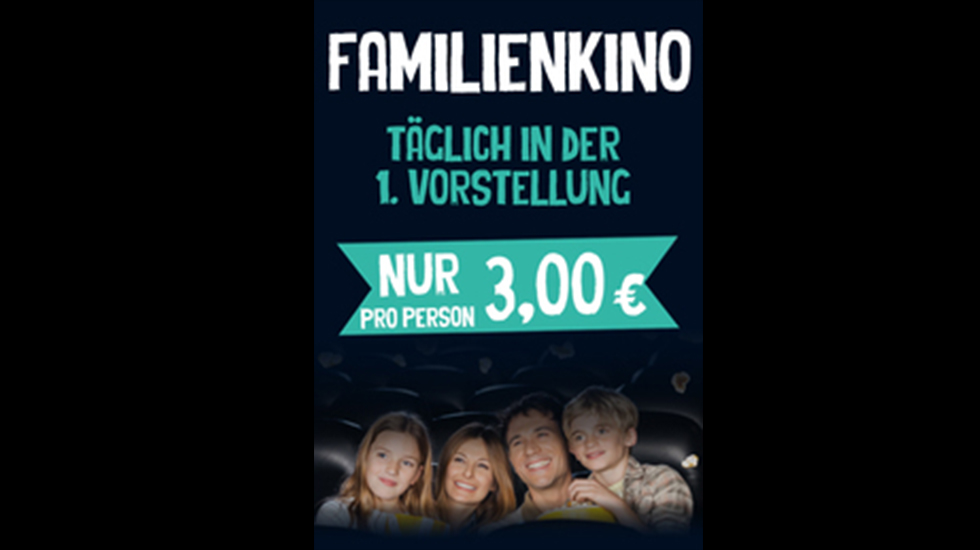 Familienkino für 3,00€