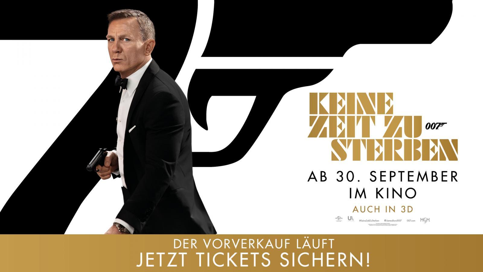 Vorverkauf: JAMES BOND 007: KEINE ZEIT ZU STERBEN