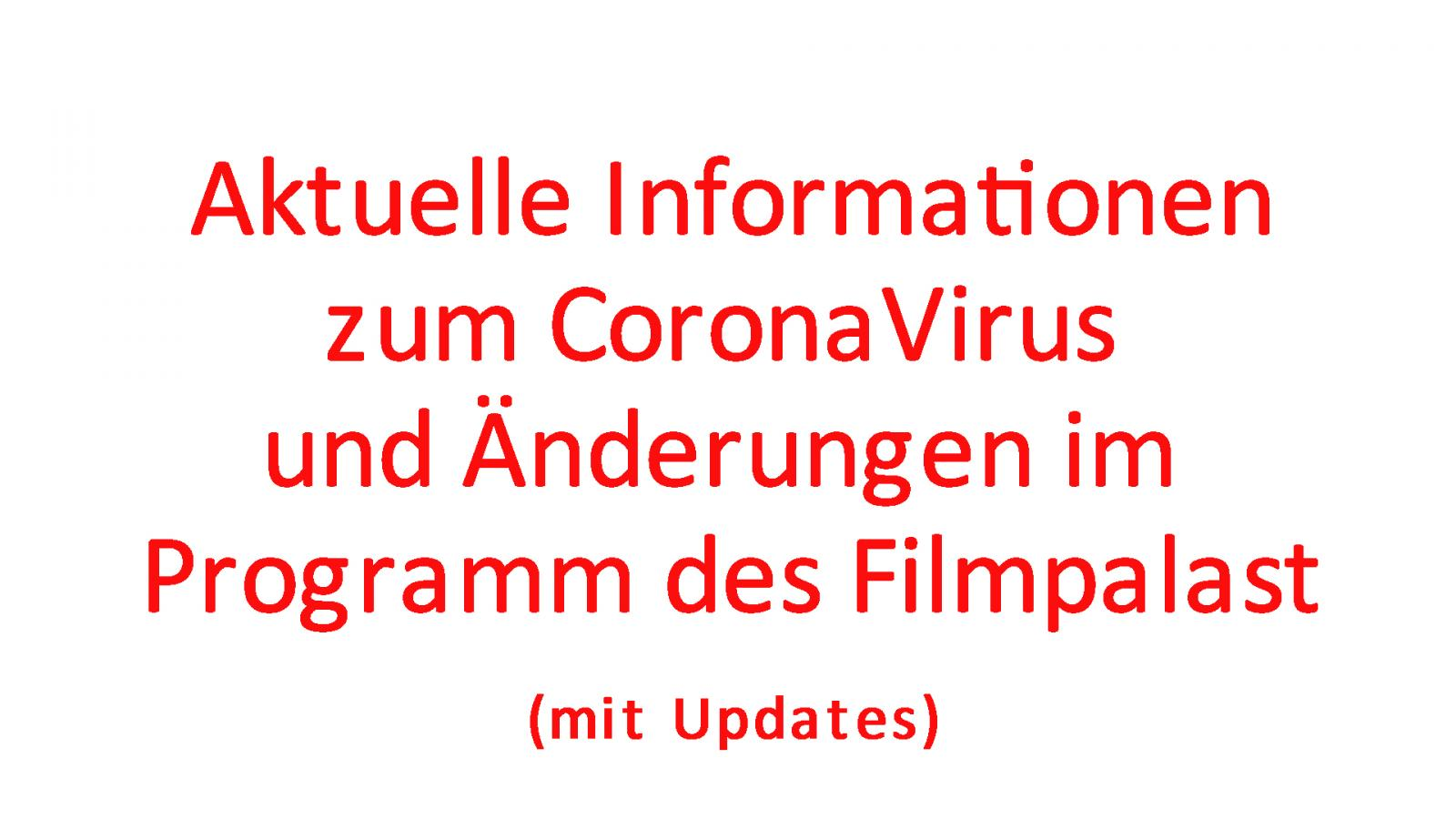 Coronavirus / Wichtige Informationen
