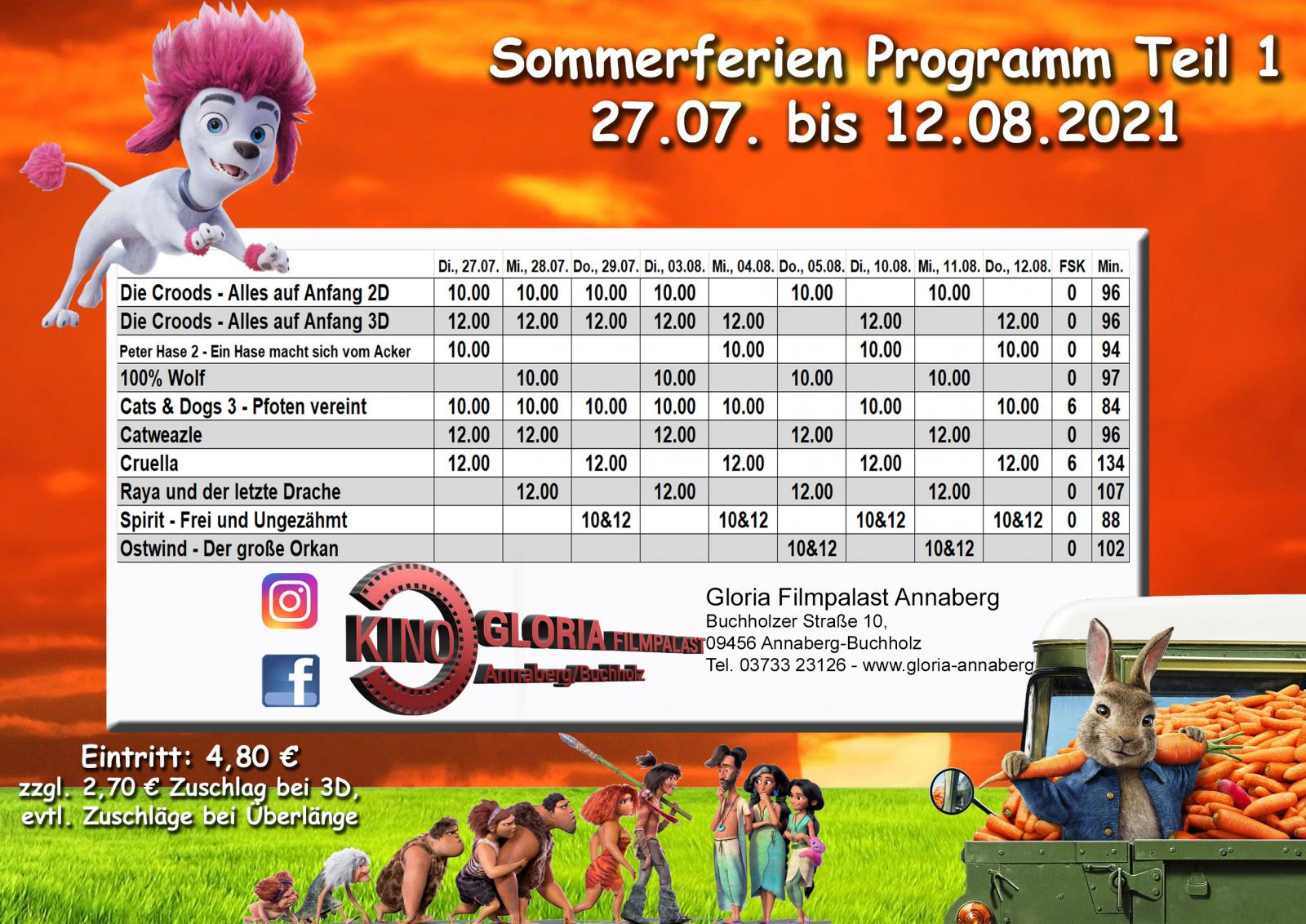 Sommerferienprogramm Teil 1