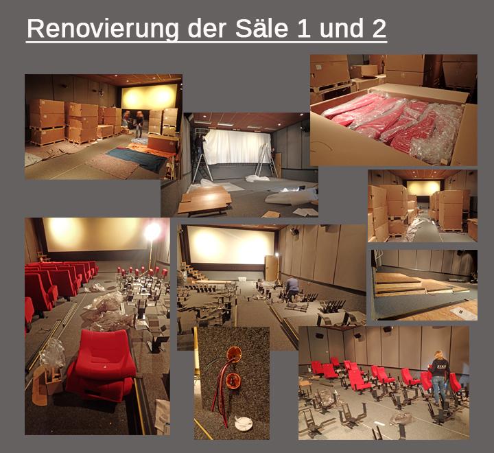 Renovierung und Umbau der Kinosäle 1 und 2