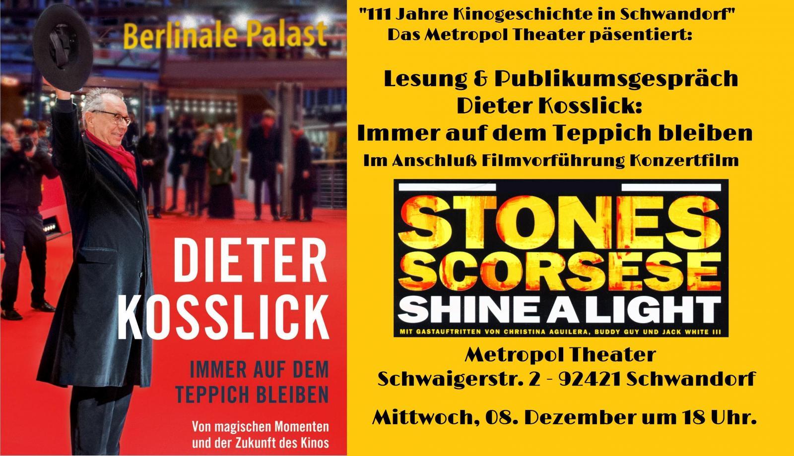 111 Jahre Kinogeschichte in Schwandorf: Lesung und Publikumsgespräch mit Dieter Kosslick