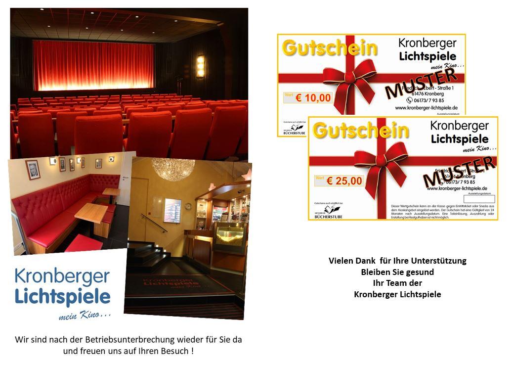 Unterstützen Sie uns mit dem Kauf von Kinogutscheinen