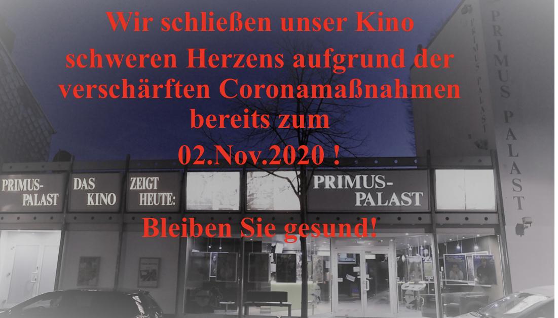 Wir schließen zum 02.11.2020