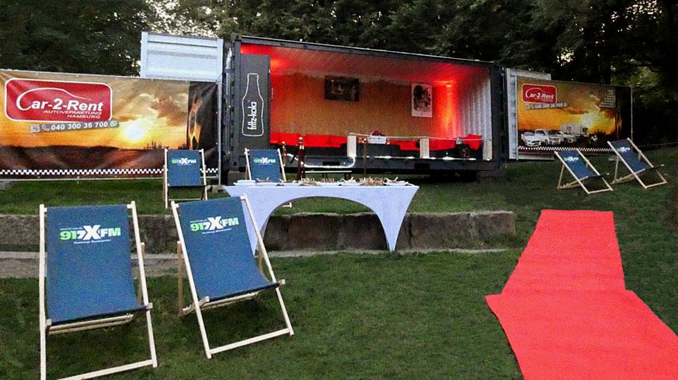 Buchbar: die VIP-Lounge im Open-Air-SchanzenKino!