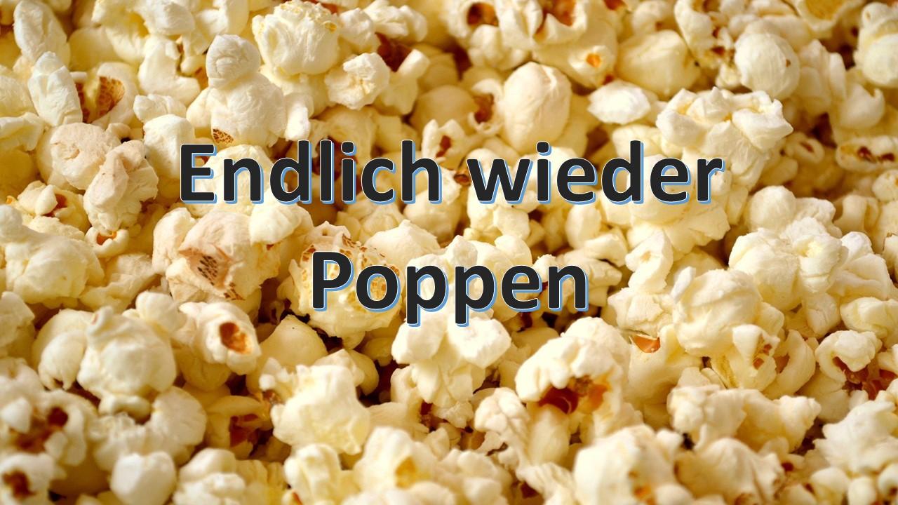 Es gibt wieder Popcorn und Getränke