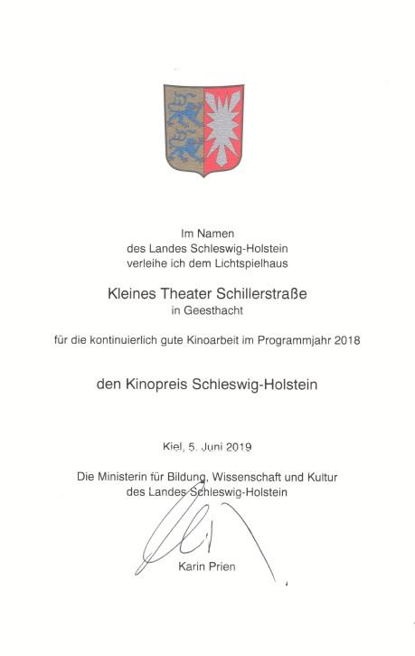 Kinopreis Schleswig Holstein 2018