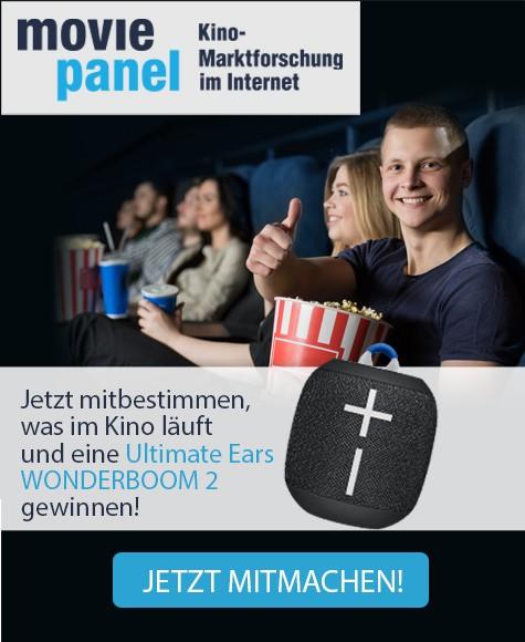 Mitbestimmen, was im Kino läuft und eine Ultimate Ears WONDERBOOM 2 gewinnen!