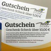 Produktbild zu: Geschenk Scheck 10,00 €